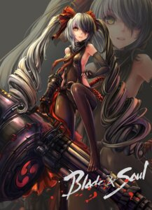 Rating: Safe Score: 90 Tags: blade_&_soul bodysuit ensinn eyepatch pantyhose pohwaran weapon User: Anonymous