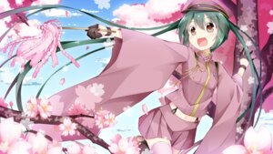 Rating: Safe Score: 41 Tags: hatsune_miku inumine_aya senbon-zakura_(vocaloid) thighhighs uniform vocaloid wallpaper User: Mr_GT