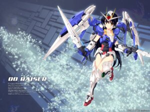Rating: Safe Score: 20 Tags: gundam gundam_00 hiten mecha_musume sscp wallpaper User: fireattack