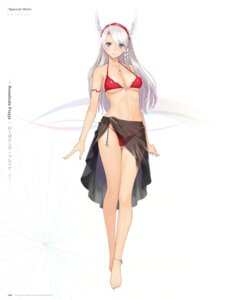 Rating: Questionable Score: 108 Tags: bikini cleavage digital_version feet roselinde_freyja see_through sega shining_blade shining_world swimsuits tony_taka underboob User: Twinsenzw