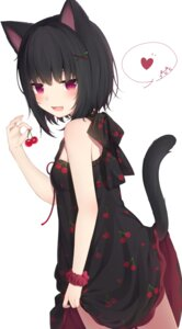 Rating: Safe Score: 64 Tags: amashiro_natsuki animal_ears dress nekomimi skirt_lift tail User: Mr_GT
