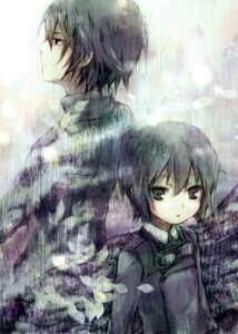 Rating: Safe Score: 11 Tags: ameiro kino_(kino_no_tabi) kino_no_tabi riku_(kino_no_tabi) User: Nekotsúh