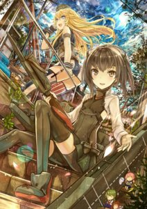 Rating: Safe Score: 31 Tags: bike_shorts fairy_(kancolle) iowa_(kancolle) kantai_collection kazabana_kazabana seifuku stockings taihou_(kancolle) thighhighs weapon User: nphuongsun93