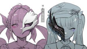 Rating: Safe Score: 10 Tags: crossover hololive kagura_mea kagura_mea_channel maid minato_aqua rakuichi_simu sketch User: Material3600