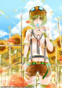Rating: Safe Score: 20 Tags: bouno_satoshi gumi megane tattoo thighhighs vocaloid User: charunetra