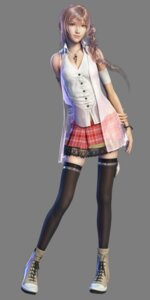 Rating: Safe Score: 40 Tags: cg final_fantasy final_fantasy_xiii serah_farron square_enix thighhighs transparent_png User: 落油Я