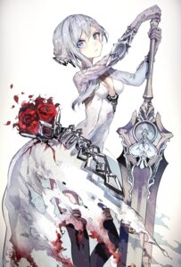 Rating: Safe Score: 51 Tags: cleavage dress irineiji no_bra sinoalice sword thighhighs torn_clothes User: nphuongsun93