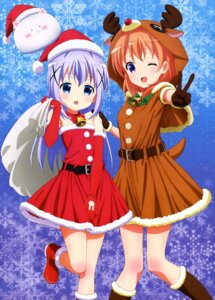 Rating: Safe Score: 75 Tags: christmas dress gochuumon_wa_usagi_desu_ka? horns hoto_cocoa kafuu_chino tippy_(gochuumon_wa_usagi_desu_ka?) User: drop