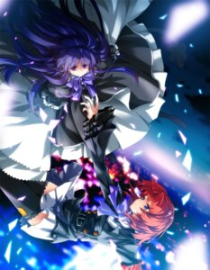 Rating: Safe Score: 42 Tags: dress frederica_bernkastel hong_(white_spider) lolita_fashion thighhighs umineko_no_naku_koro_ni ushiromiya_ange User: fireattack