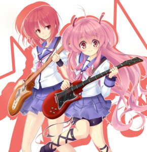 Rating: Safe Score: 16 Tags: angel_beats! garter guitar iwasawa kujou_ichiso seifuku tail thighhighs yui_(angel_beats!) User: fireattack