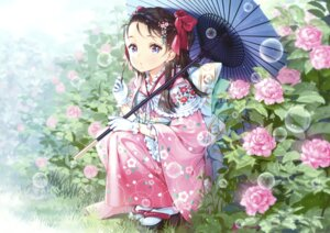 Rating: Questionable Score: 48 Tags: ancotaku kimono umbrella User: Twinsenzw
