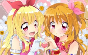Rating: Safe Score: 26 Tags: aikatsu! hoshimiya_ichigo oozora_akari tagme wallpaper User: fairyren
