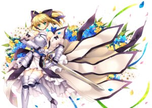 Rating: Safe Score: 19 Tags: capura.l fate/stay_night fate/unlimited_codes saber thighhighs User: fairyren
