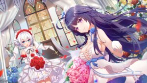 Rating: Safe Score: 39 Tags: benghuai_xueyuan cleavage dress honkai_impact no_bra raiden_mei theresa_apocalypse wedding_dress xianyujun_sam User: Arsy
