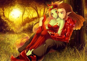 Rating: Safe Score: 6 Tags: cleavage elf genevive guitard krizpi pointy_ears wakfu User: sasorigatame