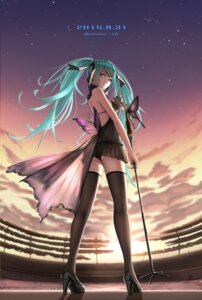 Rating: Safe Score: 93 Tags: hatsune_miku heels no_bra pantsu shijiu_(adamhutt) thighhighs vocaloid User: Mr_GT