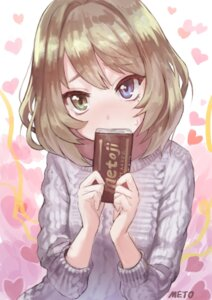 Rating: Safe Score: 45 Tags: heterochromia meto sweater takagaki_kaede the_idolm@ster the_idolm@ster_cinderella_girls valentine User: Mr_GT
