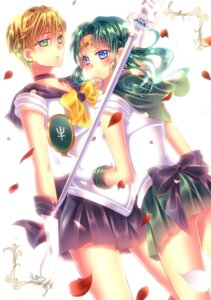 Rating: Safe Score: 6 Tags: kaiou_michiru sailor_moon sword tenou_haruka touki_matsuri User: charunetra