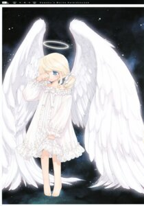 Rating: Safe Score: 32 Tags: angel aquarian_age kawaku pajama wings User: midzki
