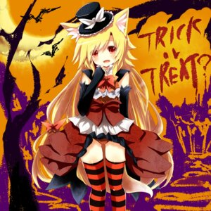 Rating: Questionable Score: 35 Tags: animal_ears halloween kitsune naomi_(sekai_no_hate_no_kissaten) pantsu thighhighs User: 椎名深夏
