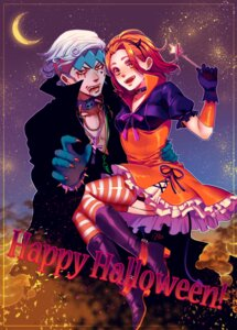 Rating: Safe Score: 6 Tags: blood dress halloween heels horns jojo's_bizarre_adventure kishibe_rohan rin2010 stockings sugimoto_reimi tail thighhighs User: charunetra