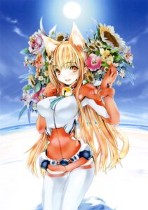 Rating: Safe Score: 34 Tags: animal_ears asobi_ni_iku_yo! bodysuit eris houden_eizou nekomimi tail thighhighs User: Kalafina