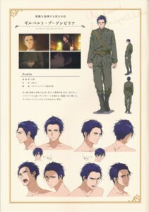 Rating: Safe Score: 4 Tags: character_design expression gilbert_bougainvillea profile_page takase_akiko violet_evergarden violet_evergarden_(character) User: tuyenoaminhnhan