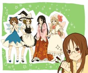 Rating: Safe Score: 15 Tags: akiyama_mio cirno cosplay hirasawa_yui houraisan_kaguya kirisame_marisa k-on! kotobuki_tsumugi lily_white midorinoko moriya_suwako tainaka_ritsu touhou yamanaka_sawako User: yumichi-sama