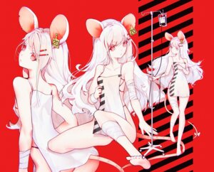 Rating: Questionable Score: 16 Tags: animal_ears ass bandages cleavage dress no_bra nopan saimon_ma tail User: Dreista