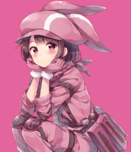 Rating: Safe Score: 52 Tags: animal_ears bodysuit hazuki_(sutasuta) llenn sword_art_online sword_art_online_alternative:_gun_gale_online User: Mr_GT