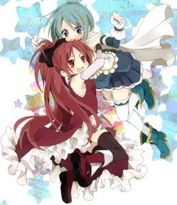 Rating: Safe Score: 14 Tags: miki_sayaka mopu puella_magi_madoka_magica sakura_kyouko thighhighs User: animeprincess