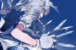 Rating: Safe Score: 17 Tags: ikurauni izayoi_sakuya maid touhou weapon User: charunetra