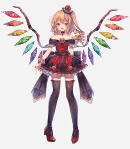 Rating: Safe Score: 38 Tags: abandon_ranka dress flandre_scarlet heels thighhighs touhou wings User: Mr_GT