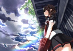 Rating: Safe Score: 40 Tags: kantai_collection seifuku shigure_(kancolle) tsuuhan umbrella User: Mr_GT