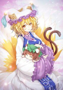 Rating: Safe Score: 16 Tags: animal_ears chen tail touhou ya_kexi yakumo_ran User: Mr_GT