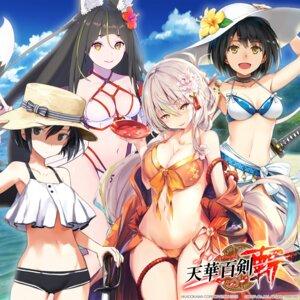 Rating: Questionable Score: 35 Tags: animal_ears bikini cleavage enkyo_yuuichirou fal_maro garter kamewaritou kashuu_kiyomitsu_(tenka_hyakken) kitsunegasaki_tametsugu kurojishi sanjuuninen-shiki_guntoukou shimada_humikane swimsuits sword tail tenka_hyakken User: blooregardo