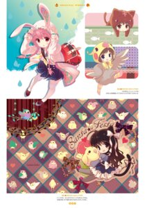 Rating: Questionable Score: 23 Tags: animal_ears bunny_ears chibi digital_version dress nekomimi pantyhose santa_matsuri seifuku tail thighhighs yukata User: Twinsenzw