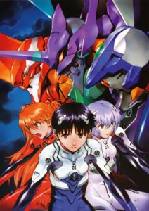 Rating: Safe Score: 26 Tags: ayanami_rei bodysuit ikari_shinji mecha neon_genesis_evangelion sadamoto_yoshiyuki screening souryuu_asuka_langley User: charunetra