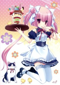 Rating: Safe Score: 25 Tags: asamiya_kana eco neko princess_party stockings thighhighs waitress User: midzki