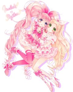 Rating: Safe Score: 15 Tags: houjou_hibiki minamino_kanade pretty_cure suite_pretty_cure thighhighs uduki-shi User: Radioactive