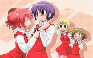 Rating: Safe Score: 13 Tags: hidamari_sketch hiro megane miyako sae seifuku suka wallpaper yuno User: Radioactive