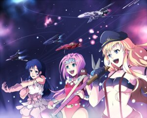 Rating: Safe Score: 8 Tags: lynn_minmay macross macross_7 macross_frontier mylene_flare_jenius sheryl_nome tagme the_super_dimension_fortress_macross User: Radioactive