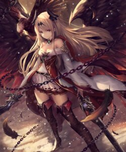 Rating: Safe Score: 134 Tags: cleavage dark_angel_olivia dress granblue_fantasy heels horns shingeki_no_bahamut sword tachikawa_mushimaro thighhighs wings User: Mr_GT