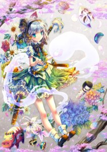Rating: Safe Score: 17 Tags: kabutoyama konpaku_youmu myon sword touhou User: Mr_GT
