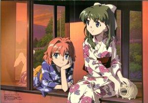 Rating: Safe Score: 12 Tags: crease miyafuji_miina onegai_twins onodera_karen yamashita_yuu yukata User: enker