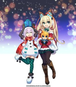 Rating: Safe Score: 17 Tags: armed_blue:gunvolt christmas dress heels pantyhose tagme thighhighs User: blooregardo