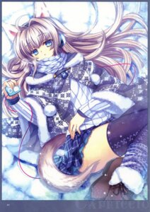 Rating: Safe Score: 49 Tags: animal_ears capura.l eternal_phantasia headphones nekomimi tail thighhighs User: fireattack