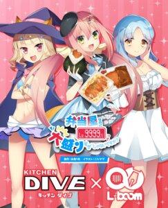 Rating: Safe Score: 12 Tags: animal_ears bikini breast_hold cleavage dress nishiyama skirt_lift swimsuits tagme tail witch User: saemonnokami