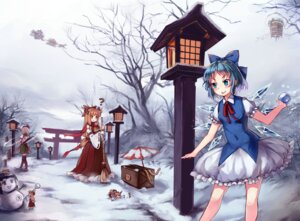 Rating: Safe Score: 16 Tags: cirno gogetu ibuki_suika konpaku_youmu seifuku sword thighhighs touhou wings User: Mr_GT