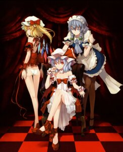 Rating: Questionable Score: 44 Tags: flandre_scarlet izayoi_sakuya maid missing_link pantsu remilia_scarlet shingo touhou User: midzki